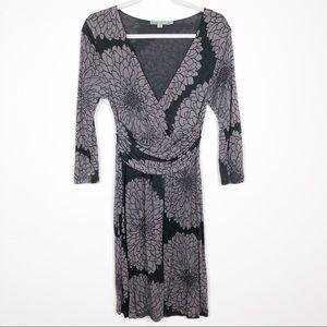 Boden Chelsea floral, faux wrap, jersey knit dress